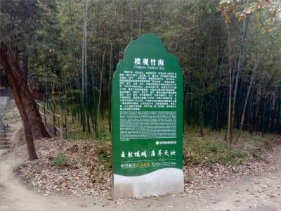 楼观台国家森林公园标识牌设计制作