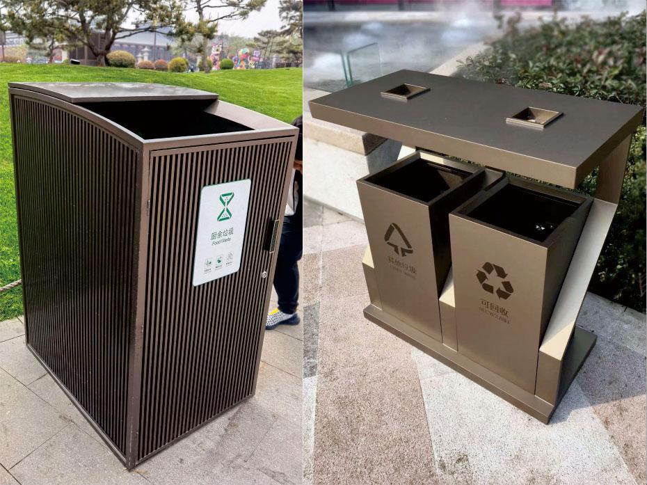两分类不锈钢垃圾箱定制