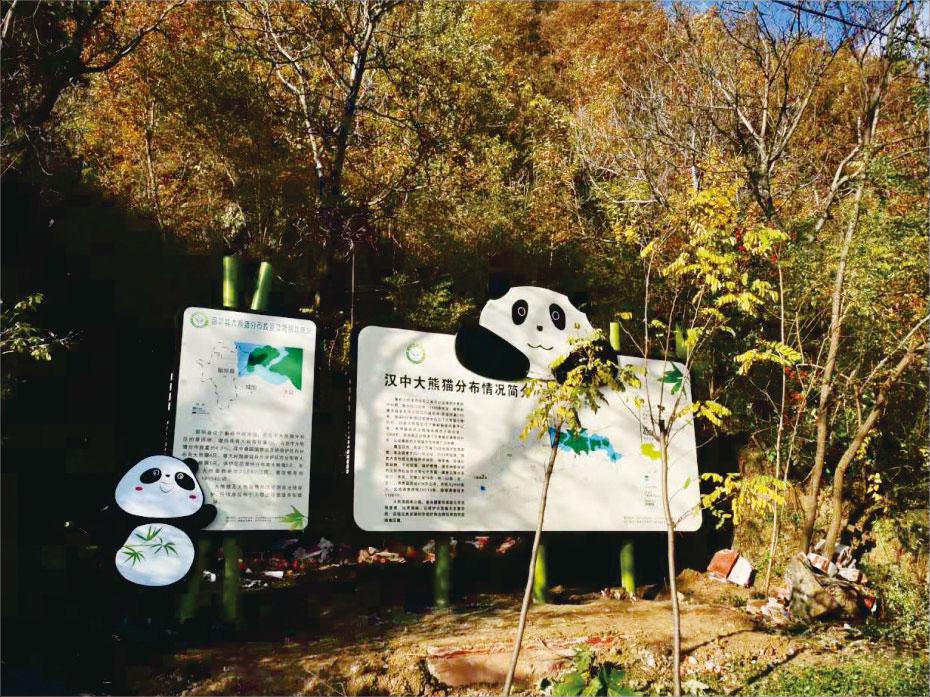 汉中大熊猫自然保护区标识牌制作 美丽乡村标识
