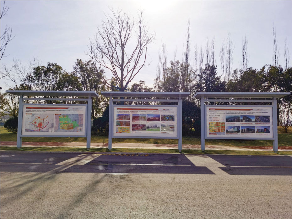 泾阳龙陂湖公园标识牌设计制作 公园标识